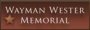 Wayman Wester Memorial Bronze Ad